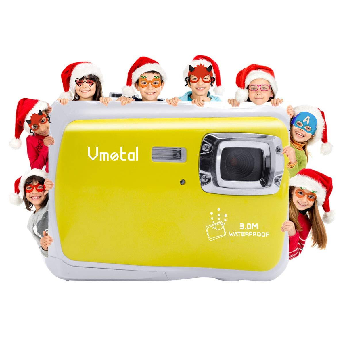 Kids Waterproof Camera, Vmotal Digital Camera for Kids 2.0 Inch TFT Display Children Kids Digital Camera (Yellow) by Vmotal