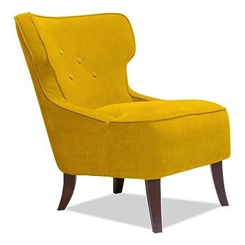 Sessel Senfgelb sessel senfgelb designer loungesessel fernsehsessel amazon de