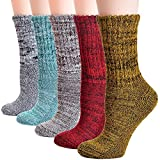 Field4U Women's Thick Winter Wool Socks 5-Pack - Super Thick C