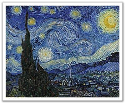 JP London POSLT2289 uStrip Lite Removable Wallpaper Decal Sticker Mural Van Gogh Starry Night, 24-Inch x 19.75-Inch