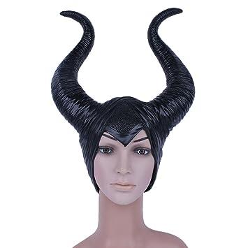 Maléfica Máscara de hadas oscura - Perfecto para el Carnaval y Halloween - Disfraz de Adulto