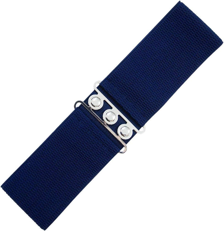 Banned Cintur/ón El/ástico Ancho de estilo Retro Vintage 1950