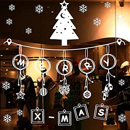 Coffee Christmas Tree Ornaments.Amazon Com Syksdy New Year Christmas Stickers Stickers