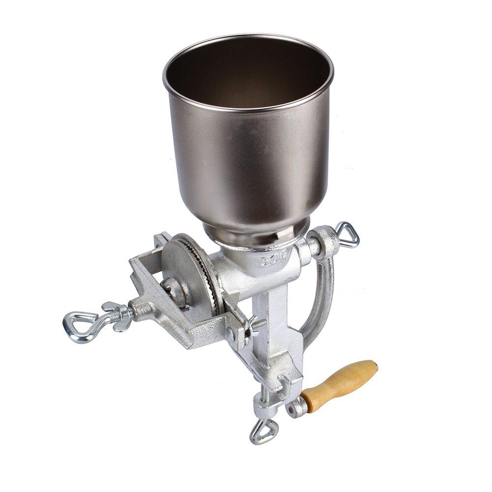Cocoarm Molino de Grano de caf/é Amoladora de Cocina Ajustable de Mano Molino de harina Molino de m/áquina de Equipo para Trigo de ma/íz Avena