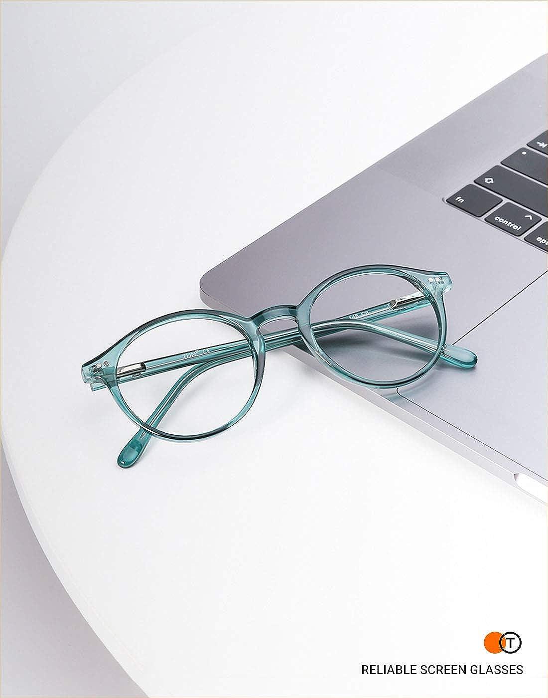 TIJN Blaue Licht Blockieren Brille Blaulichtfilter Brille Blueblocker Brille Anti-Blaulicht ohne sehst/ärke Computer Brillen