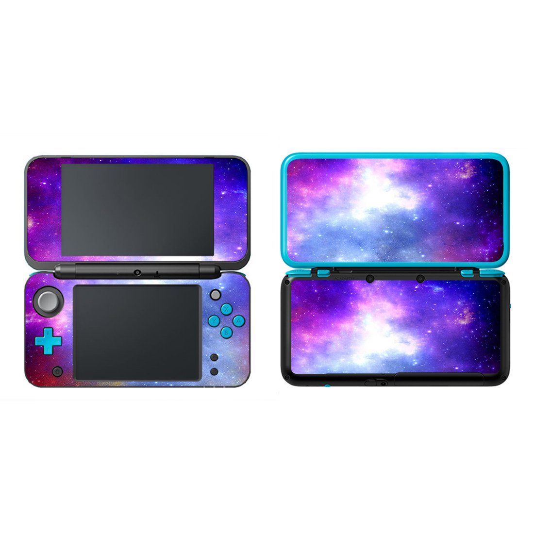 FOTTCZ Vinyl Cover Decals Skin Sticker for New Nintendo 2DS XL/LL - Blue and Purple Cosmic