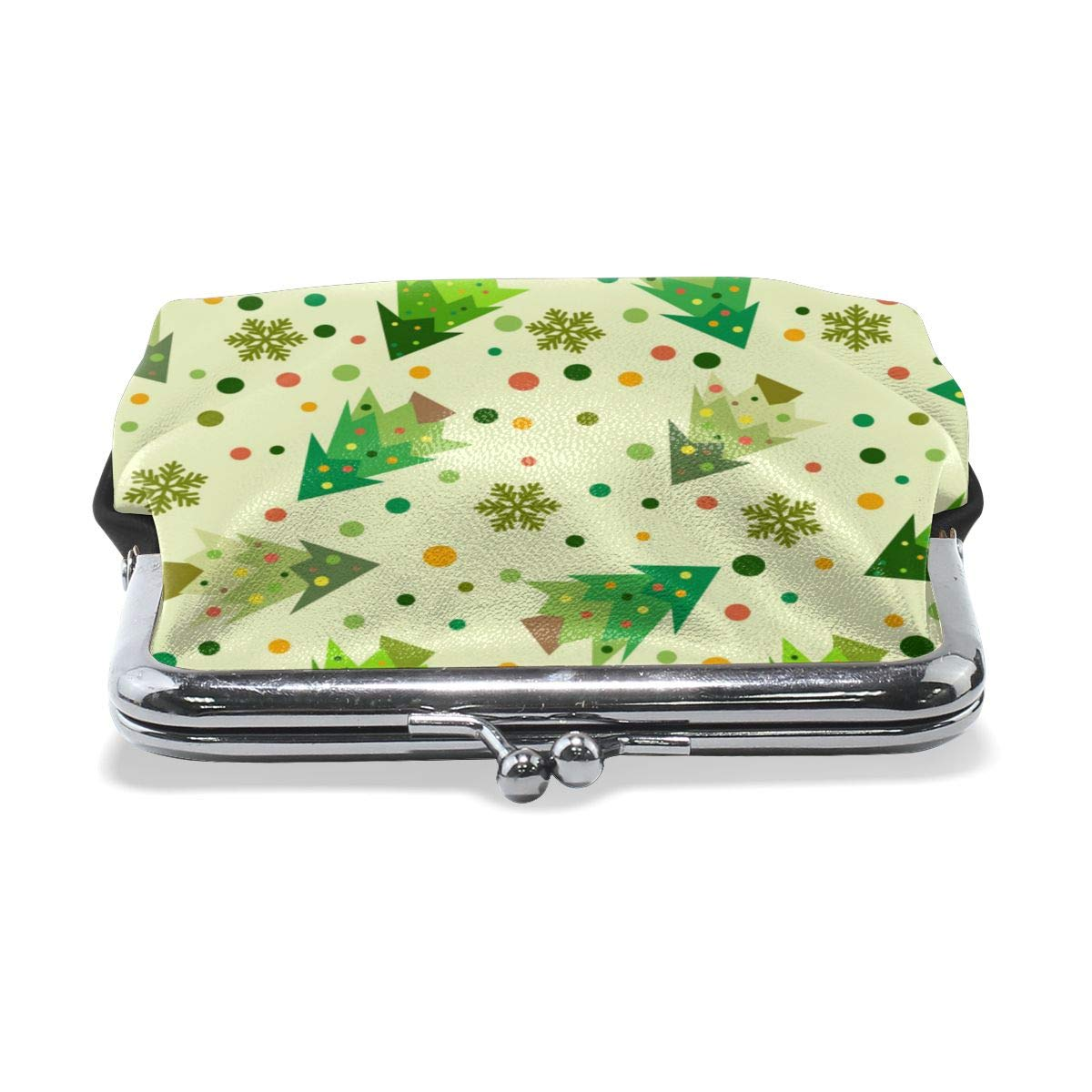 Retro A Tree With Many Leaves Pattern Credit Cards Buckle Coin Purse For Womens
