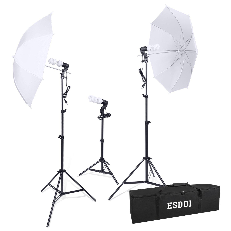 ESDDI Photography Umbrella Lighting Kit 800W 5500K Portable Continuous Day Light Photo Portrait Studio Video Equipment
