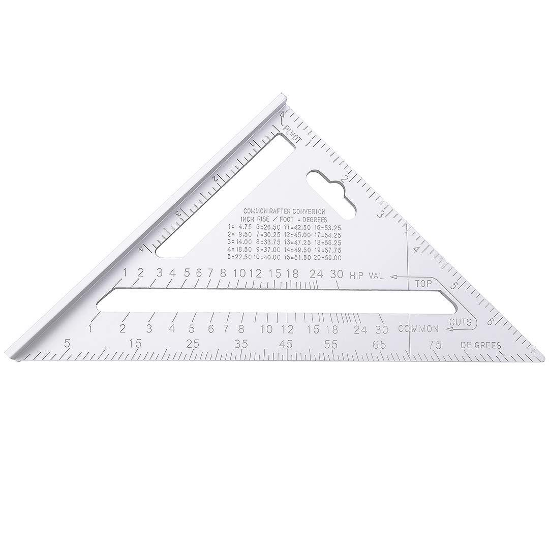 silber Sourcingmap Dreieck Lineal aus Aluminium 17,8 cm