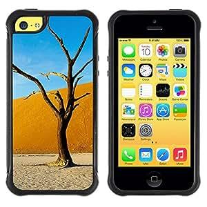 LASTONE PHONE CASE / Suave Silicona Caso Carcasa de Caucho Funda para Apple Iphone 5C / Plant Nature Forrest Flower 6