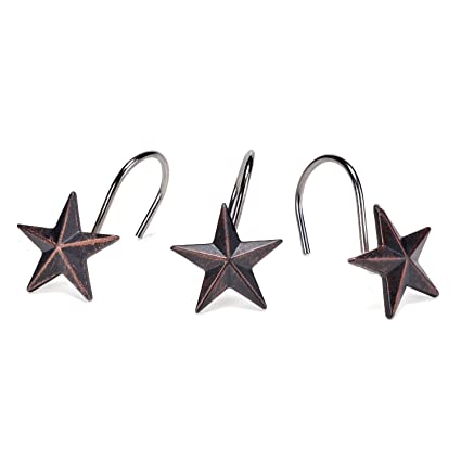 Image Unavailable Not Available For Color AGPtekA Star Decorative Shower Curtain Hooks