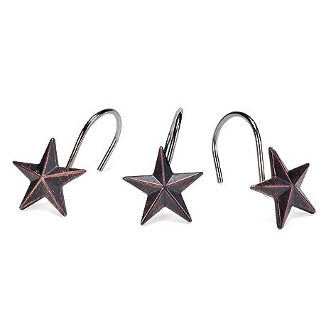 AGPtekR Star Decorative Shower Curtain Hooks Set Of 12
