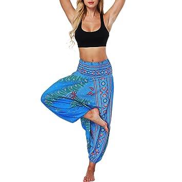 Aladin Pants,Damen Herren Hohe Taille Haremshose Pumphose Aladinhosen  Pluderhose Blumenmuster Weite Bein Lange Hose 4cfaff1ed3