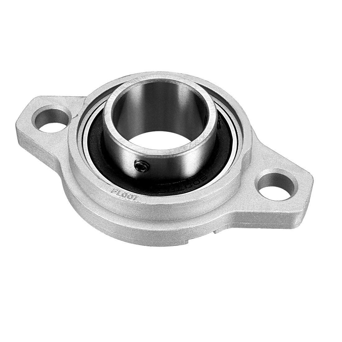 35mm bore Diameter KFL007 Flange pad Block Bearing Locking Screw Lock Package of 1 zinc Alloy//Chrome Steel