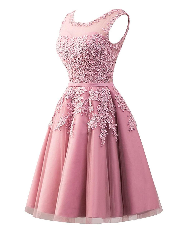 Carnivalprom Damen Abendkleider Mit Applikationen Elegant Ballkleid  Brautjungfernkleider Kurz Partykleid: Amazon.de: Bekleidung