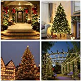 Qedertek Solar Christmas Lights, 72ft 200 LED Fairy Garden String Lights Decorative Lighting for Home, Lawn, Patio, Garden, Wedding, Party and Holiday Decorations (Warm White)