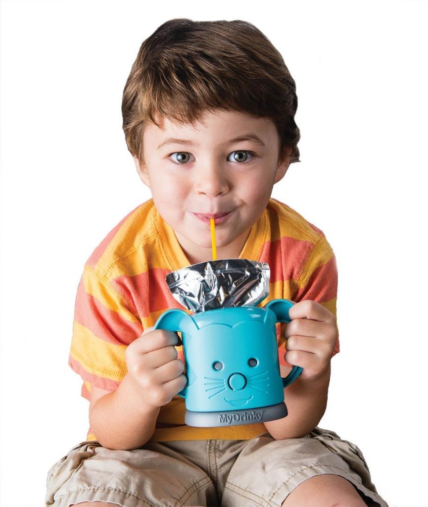 MyDrinky The Adjustable Juice Box Holder Aqua