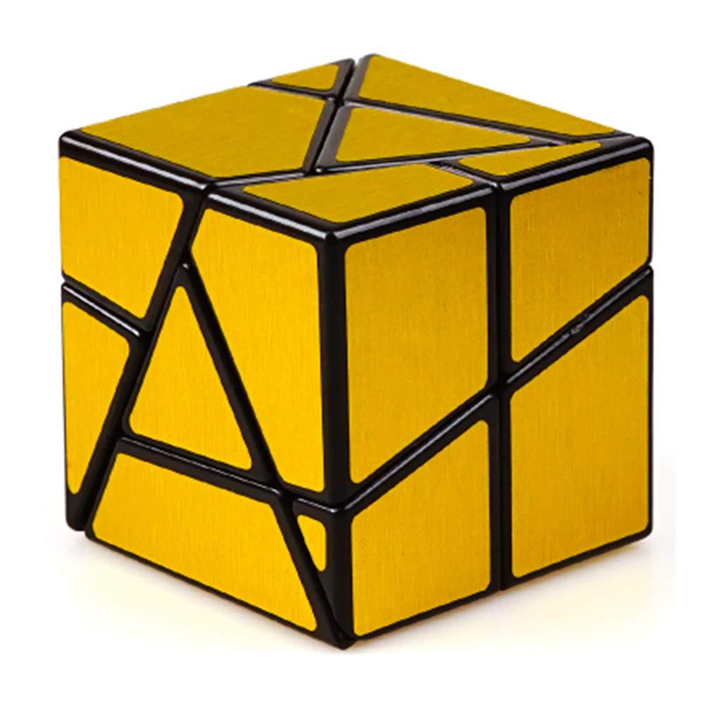 JIAAE 2X2 Allotype Rubik's Cube High Difficulty Intelligence Rubik Children Puzzle Toy,Gold