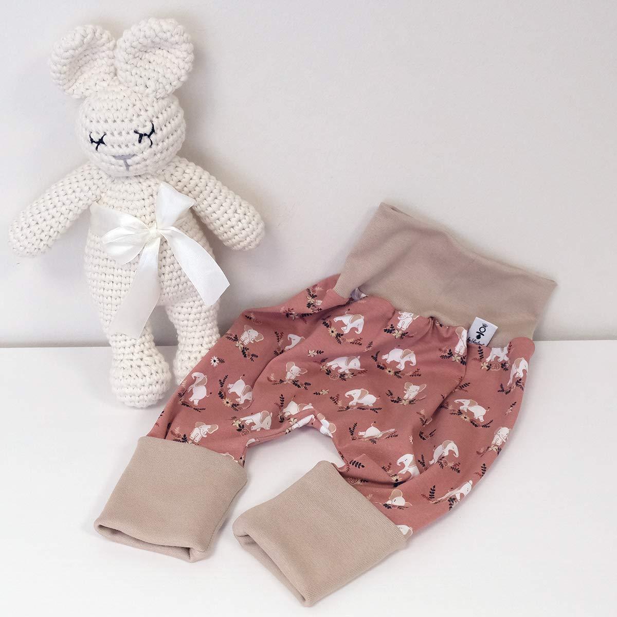 Schleife Wei/ß Baby M/ädchen Halstuch Hose Beige ANGEBOT Set Schleifenm/ütze sweet Elephants
