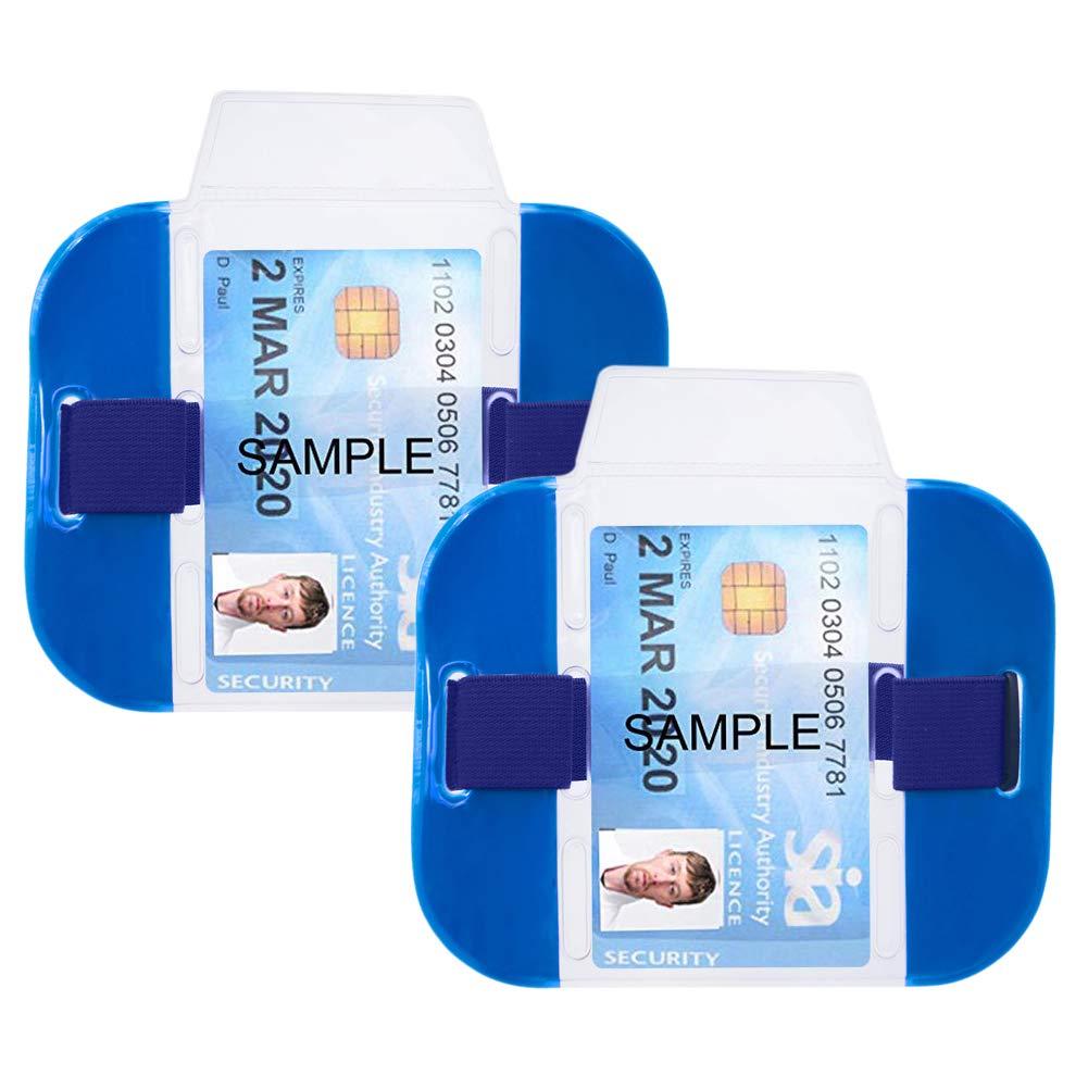 Gogo Confezione da 2 porta badge di sicurezza SIA ad alta visibilit/à Misura unica Orange