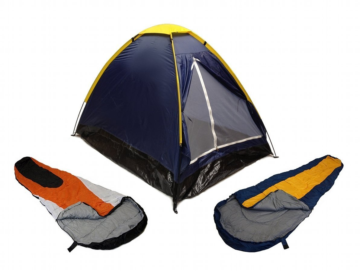 BLUE-DOME-CAMPING-TENT-2-MAN-2-SLEEPING-BAGS-20-COMBO-CAMPING-HIKING-PACK