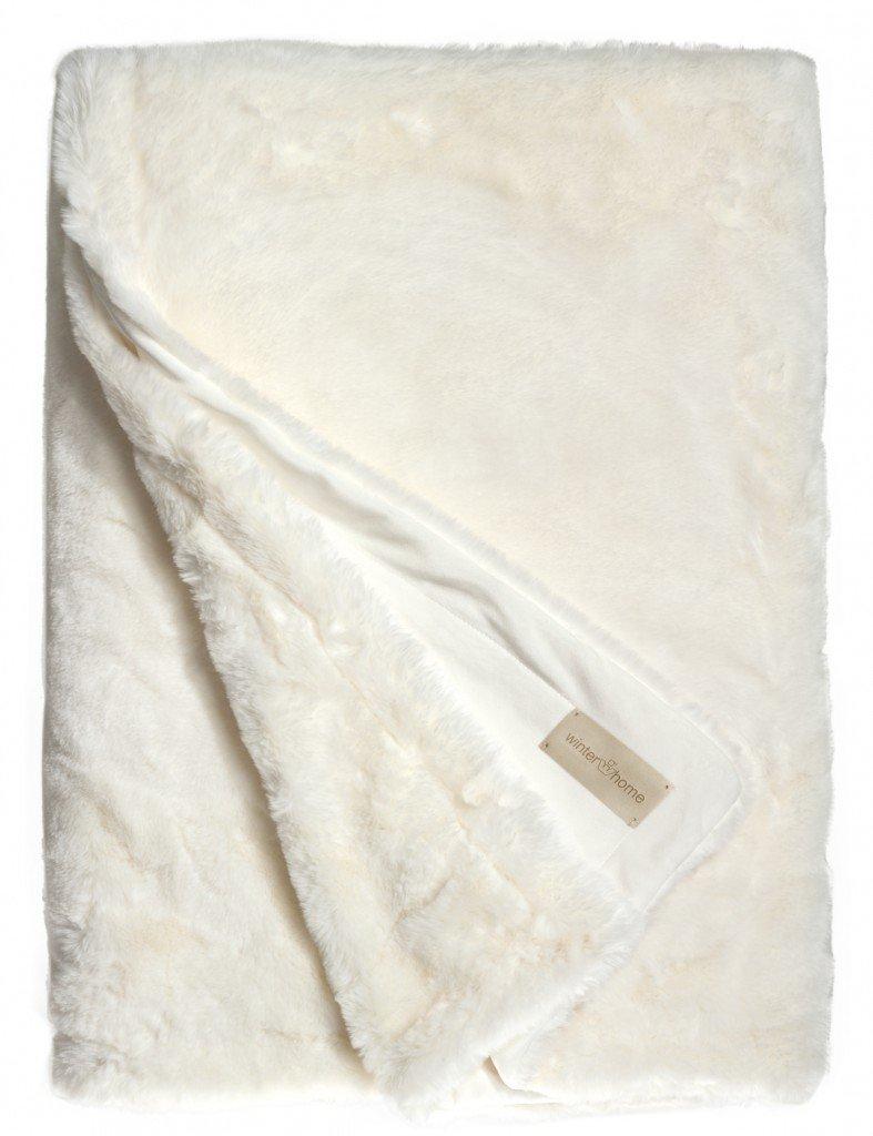 Winterhome Felldecke Seal Snow-Weiß, Größe 140 x 200 cm