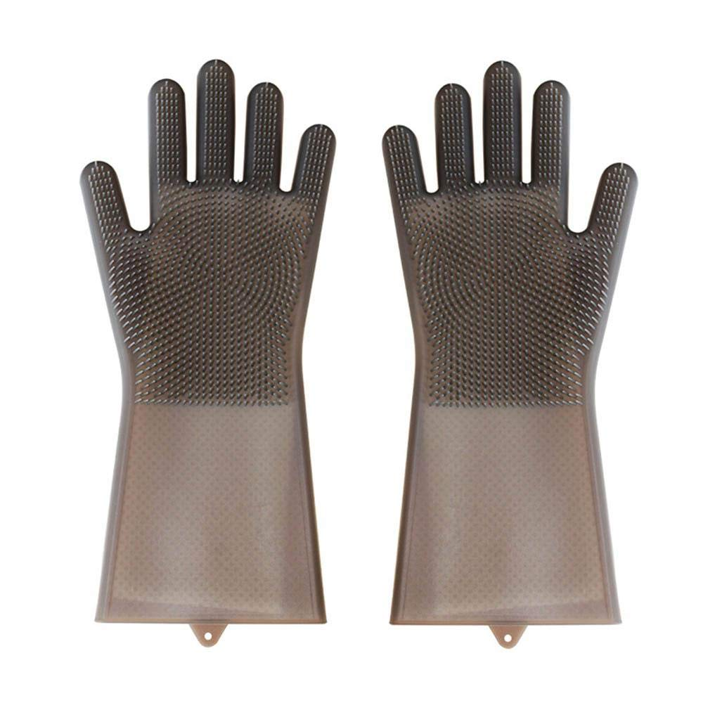 AOLVO Guantes de Goma Multifuncional, Guantes de Lavado Platos, Impermeable, Antideslizante, Durable, 35.5 * 15.5cm
