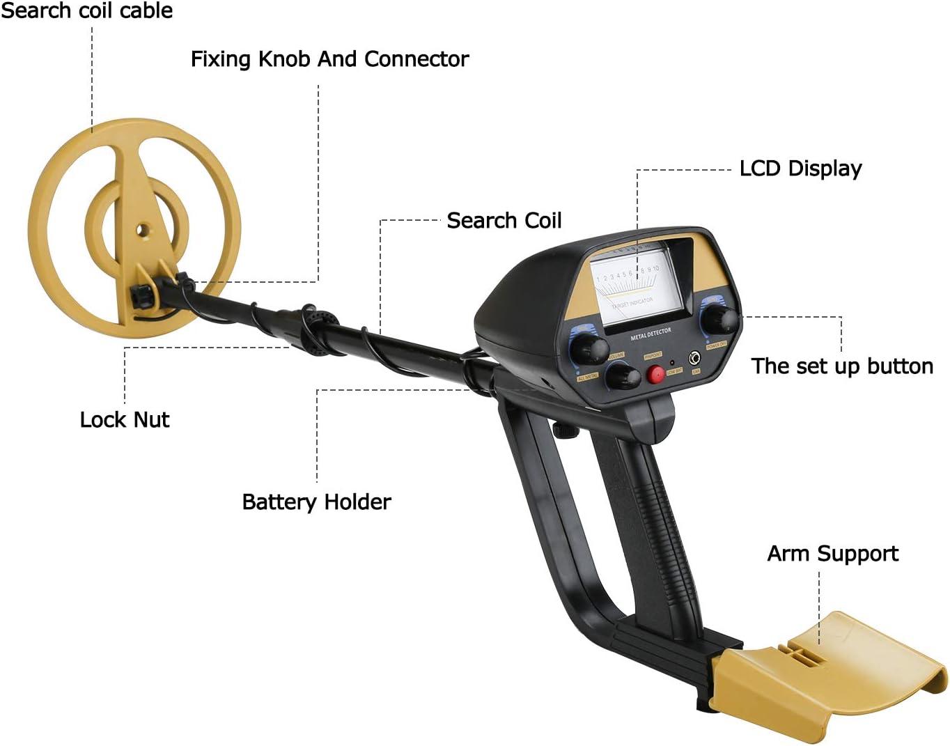 Hengda GC-1032 Metalldetektor wasserdicht Metall Suchger/ät Metallortungsger/ät Suchger/ät Suchtiefe Digital Metalldetektor