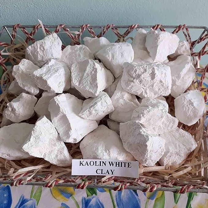 White Kaolin arcilla comestible (4 oz) trozos naturales para comer