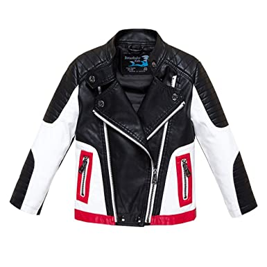 7ecc3b851da3 Amazon.com  Budermmy Boys Leather Motorcycle Pilot Jackets Toddler ...