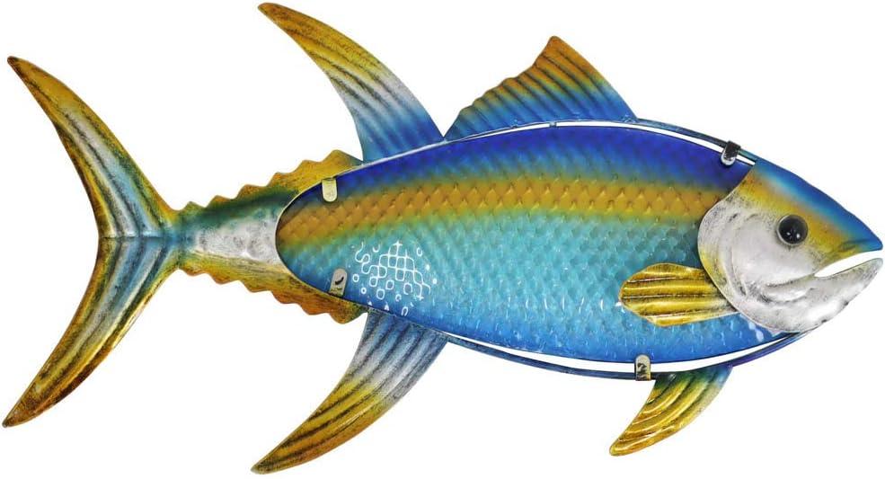 Liffy Metal Fish Wall Art Outdoor Nautical Bathroom Decor Ocean Hanging Sculpture for Pool or Patio