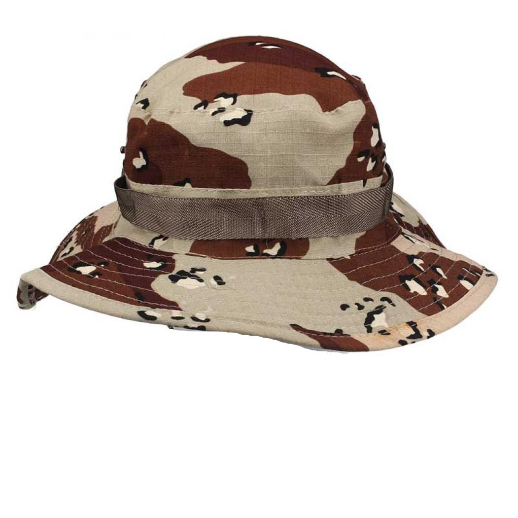 Vovotrade Chapeau de Seau Boonie Chasse Pêche en Plein air Wide Cap Brim Militaire à la Mode Casquettes (Vert) HGTcH6d