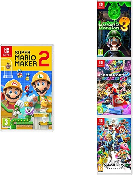 Super Mario Maker 2 Luigi S Mansion 3 Mario Kart 8