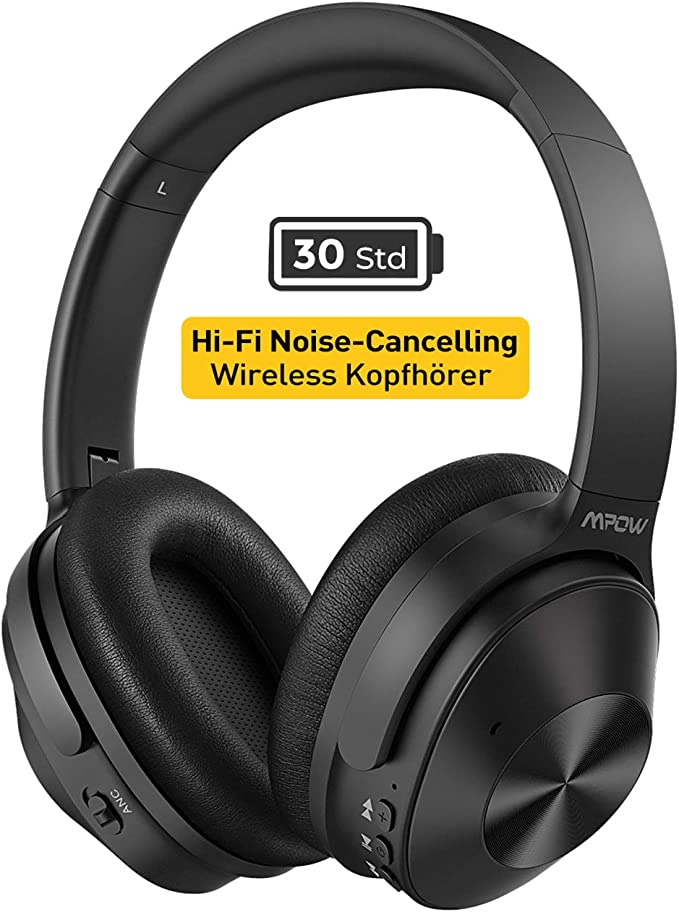 Mpow H12 Noise Cancelling Kopfhörer (ANC), [Bis zu 30 Std] Hybrid Geräuschreduzierungsmodus, CVC 6,0 geräuschreduzierende Mikrofon, Bluetooth