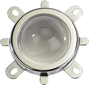 2x 50mm Glass LED Lens Reflector Aluminum Collimator Holder Bracket 60° 90°