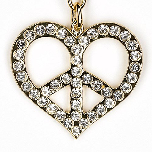 (Lilly Rocket Heart Peace Sign Love Bling Swarovski Rhinestone Crystal Charm Pendant Purse Bag Key Ring Chain)