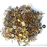 Steampunk Watch Parts and pieces - 30g of LOTS of TEENY TINY vintage and antique gears, cogs, wheels, hands, crowns, stems, etc. by ArrowSarah