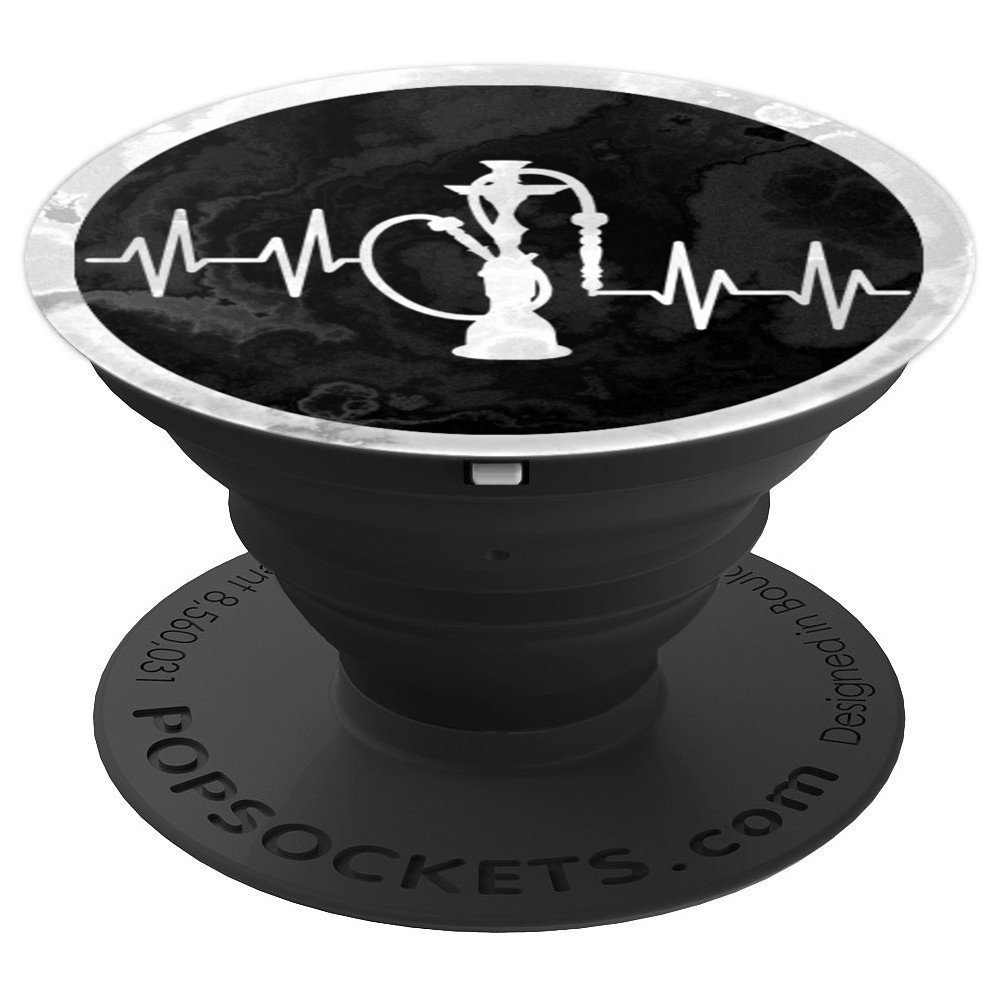 Relaxing Hookah Shisha (Sheesha) - Heart Beats Design 2 - PopSockets Grip and Stand for Phones and Tablets