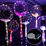 Missbee 18in LED Transparent Balloons, Flashing Balloons, LED String Lights Balloons for Birthday, Wedding, Festival, New Year Party Decoration (10, Standard)