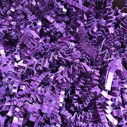Black Cat Avenue 2 LB Plum Purple Crinkle Cut Paper Shred Filler for Gift Wrap and Basket Filler