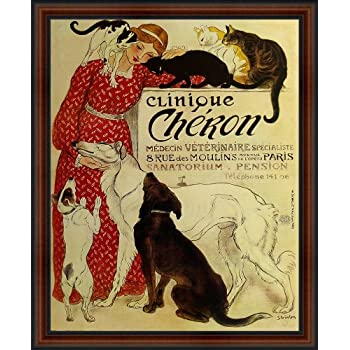 "Vet Veterinarian Clinic Ad Cheron Lady Cats Dogs 16/""X20/"" Vintage Poster FREE SH"