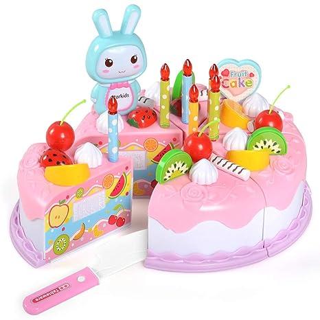 Weishazi - Juego de 37 piezas de pastel de cumpleaños con ...