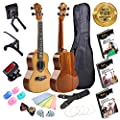Alto Concert Ukulele Bundle (X-Piece Set) Gig Bag, Clip-On Tuner, Capo, Display Stand, Microfiber Cloth, Padded Strap, Finger Protectors, Picks and Learning eBooks