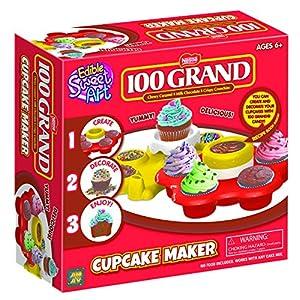 AMAV 100 Grand Cupcake Maker Toy Activity Set Using Microwave Baking - DIY Make Your Own Delicious Treat - Edible Sweet Art