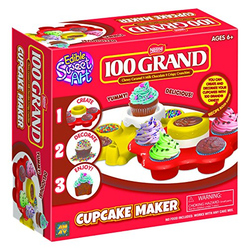 AMAV 100 Grand Cupcake Maker Toy Activity Set Using Microwave Baking - DIY Make Your Own Delicious Treat - Edible Sweet Art -