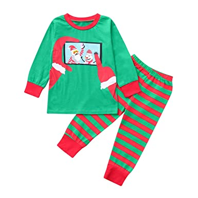 2cadb94fa7 Family Christmas Pajamas Set Mum Dad Kids Little Christmas Santa Clausl  Print in Training Festive Xmas