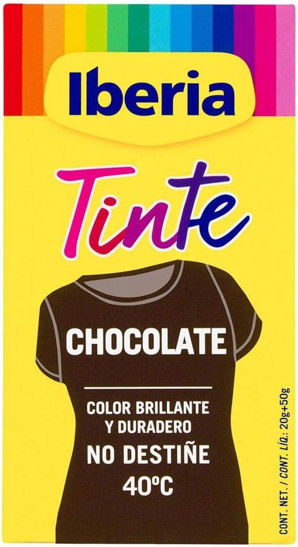 Iberia Tinte Color Chocolate no destiñea 40 º C Caja 1 ud