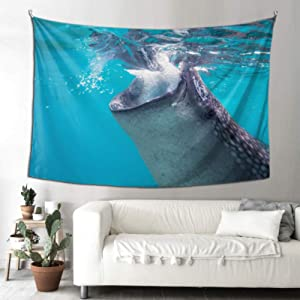 QYUESHANG Woman Tapestry Philippine Whale Shark Tapestry for Men Wall Decor for Bathroom 90x60 Inches(229x152cm) Wall Hanging Art Home for Living Room Bedroom