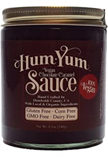 HumYum Vegan Chocolate Sauce - Organic - Gluten Free - Corn Free - Made in USA