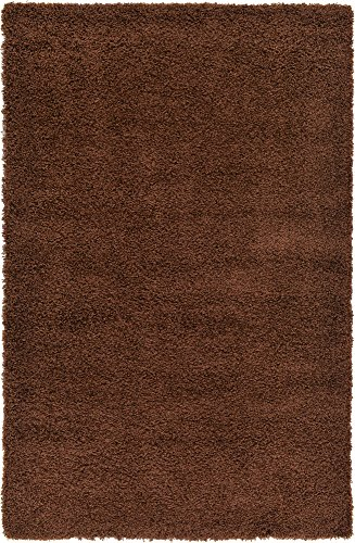 - Unique Loom Solo Solid Shag Collection Modern Plush Chocolate Brown Area Rug (5' 0 x 8' 0)